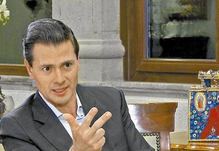 El presidente Enrique Peña Nieto aseguró que México va a ser una potencia económica durante su entrevista. (Milenio )