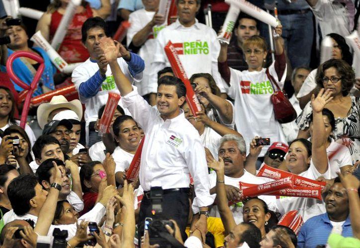 La Coalición por México postuló a Peña Nieto como candidato. (Archivo/Notimex)