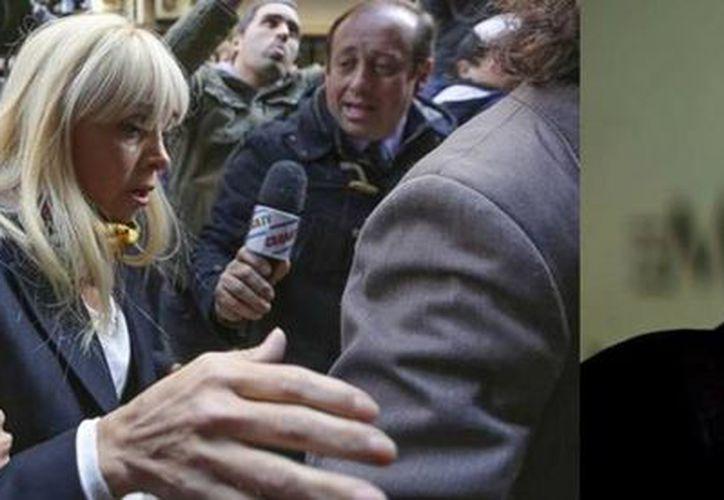 Claudia Villafañe, quien fue esposa y representante del astro futbolístico, Diego Armando Maradona, enfrenta una demanda legal por presunto fraude. (Imágenes de archivo AP y EFE)