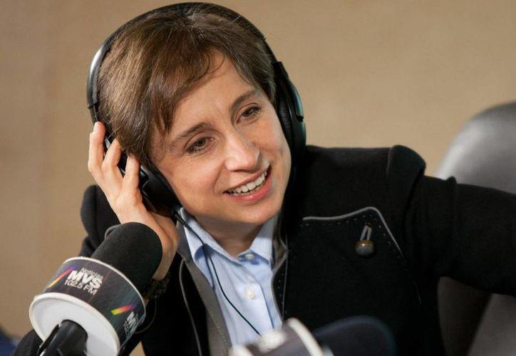 Carmen Aristegui dijo que apuesta por que su espacio se mantenga abierto.  (Imagen: revoluciontrespuntocero.com)