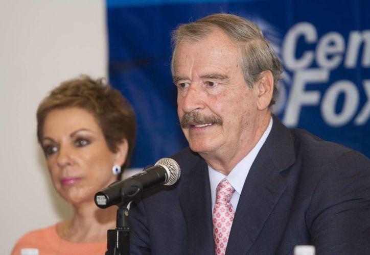El expresidente Vicente Fox rechazó en entrevista la política migratoria que propone el aspirante a la Casa Blanca, Donald Trump. (Archivo/Notimex)