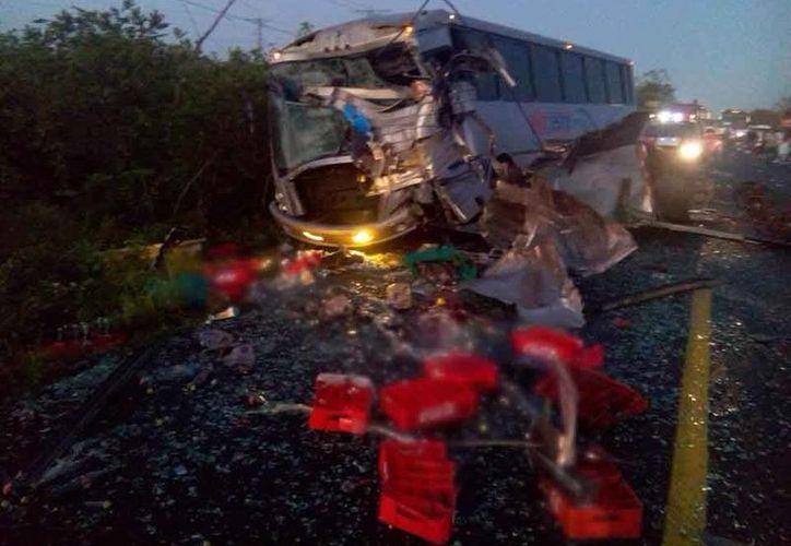 El accidente se suscitó a las 6:20 horas. (Redacción/SIPSE)