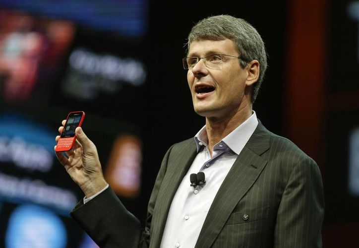 El Q5 es el tercer teléfono multiusos de la empresa que funciona con el nuevo sistema BlackBerry 10.  (Agencias)