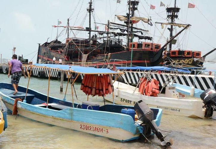 El sector náutico de Cancún reporta pérdidas económicas. (Contexto)