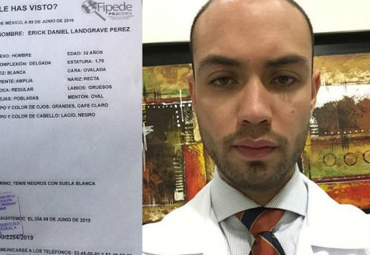 Erick Daniel Landgrave Pérez fue visto por última vez en la colonia Roma. (Internet)