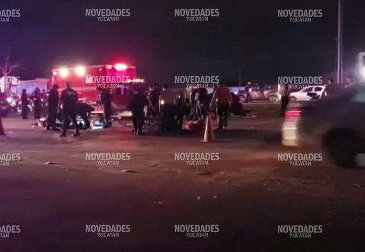 Fueron seis los agentes accidentados.