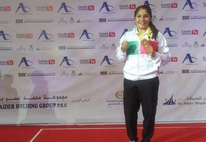 Guadalupe Quintal, la mejor exponente de karate de Yucatán. (Foto: twitter)