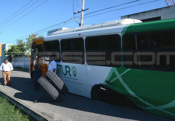 Falla mecánica provocó el accidente. (Victoria González/SIPSE)