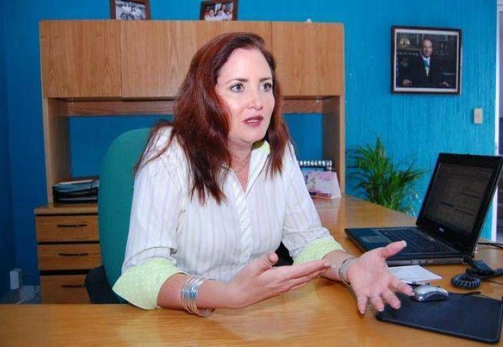 La delegada de la Conducef, Lenisse Sánchez Peniche. (SIPSE)