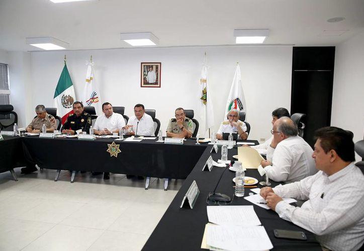 Los trabajos de la estrategia territorial de seguridad se realizaron en las instalaciones de la Secretaría de Seguridad Pública, en la capital yucateca. (Milenio Novedades)