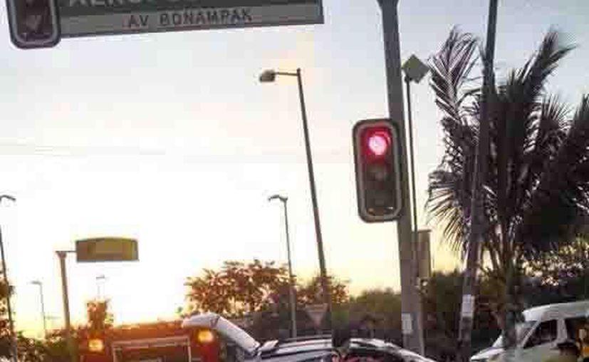 El accidente ocurrió en la avenida Bonampak. (Redacción/SIPSE)