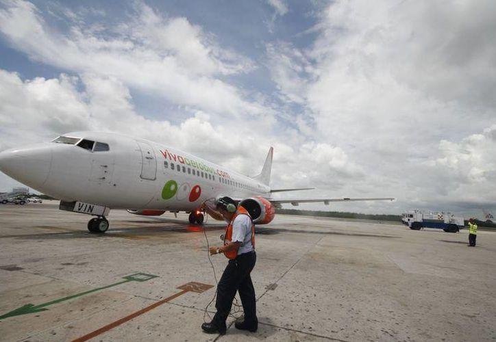Viva cuenta con 15 vuelos  nacionales y 5 internacionales, siendo la aerolínea mexicana con el mayor número de destinos desde dicha ciudad. (Archivo)