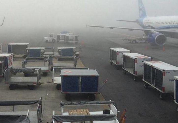 El aeropuerto permaneció en mínimos, es decir en las pistas solo se permitieron actividades terrestres. (twitter.com/yameroenForbes)