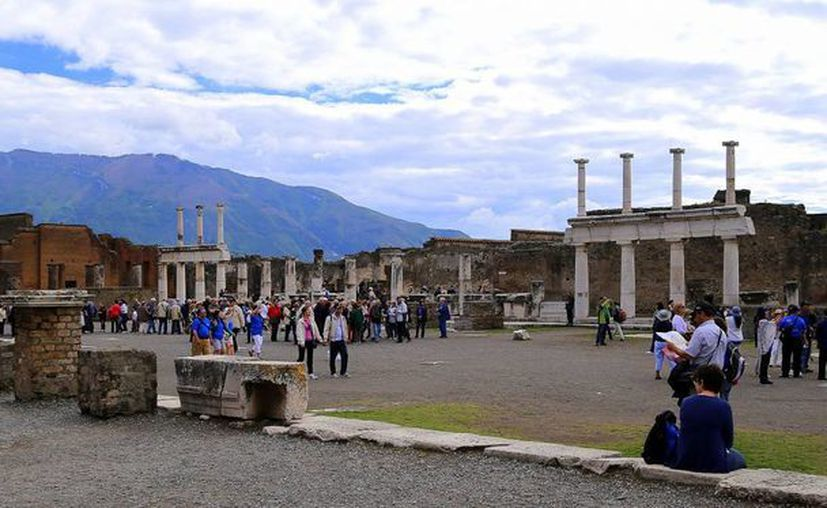 Las ruinas de Pompeya son una de las tantas atracciones que Italia ofrece al mundo. (Archivo/AP)