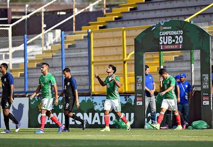 México aplastó 6-1 a El Salvador en el Premundial sub 20 de Costa Rica para asegurar su pase al Mundial de Corea. (Foto tomada de Imago7.com)