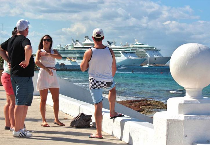De las navieras que traerán a los turistas la próxima  destaca Carnival Cruises Line. (Gustavo Villegas/SIPSE)