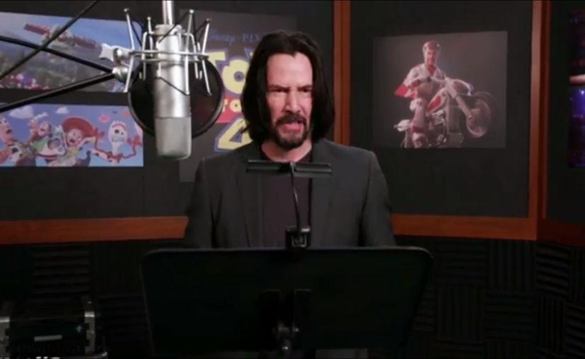 Keanu Reeves da voz a uno de los personajes de Toy Story 4.  (Disney)