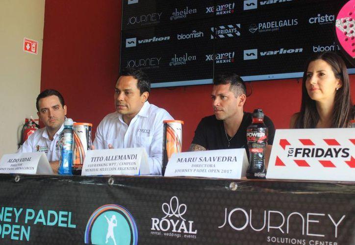 Presentación del torneo durante una conferencia de prensa. (Raúl Caballero/SIPSE)