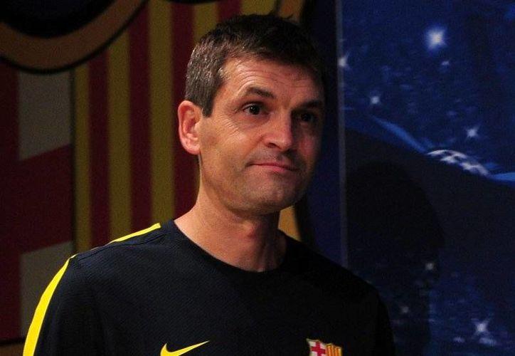 Vilanova está cerca de conquistar su primer título como entrenador del Barza: la liga local. (football365.com/Archivo)