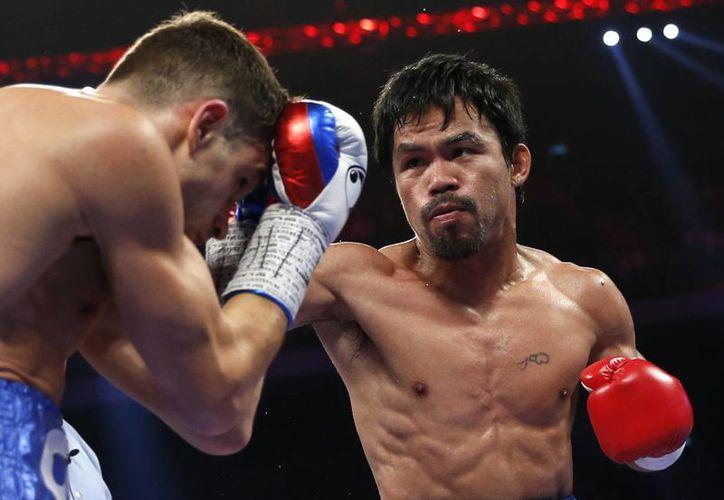 A pesar del buen boxeo mostrado, Pacquiao no pudo derrotar por nocaut a su contrincante. (AP)