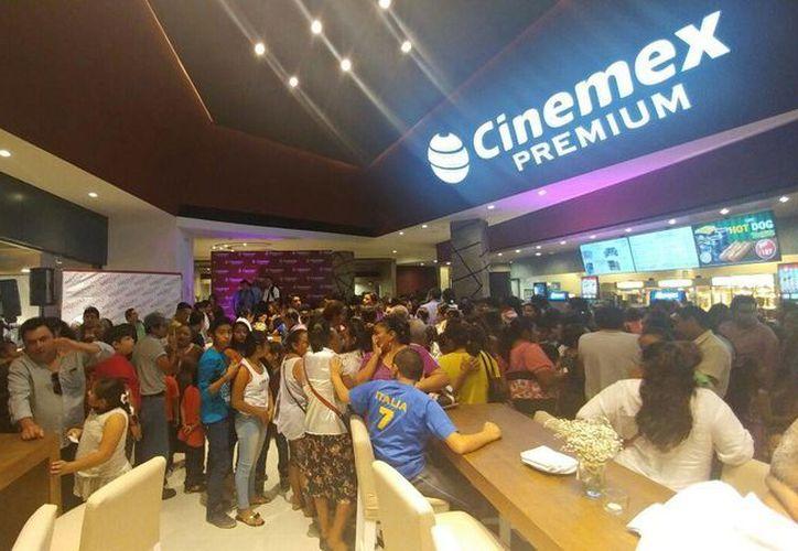 Las salas de Cinemex Uptown se estrenaron con un gran lleno. (Milenio Novedades)