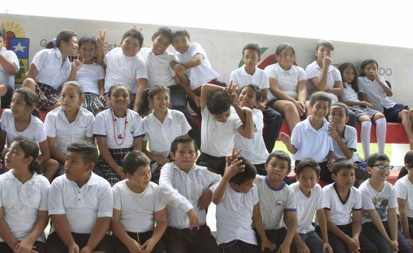 De los niños quedijeron haber sufrido violencia física, el 16.9 por ciento señaló que fue en la escuela. (Ángel Castilla/SIPSE)