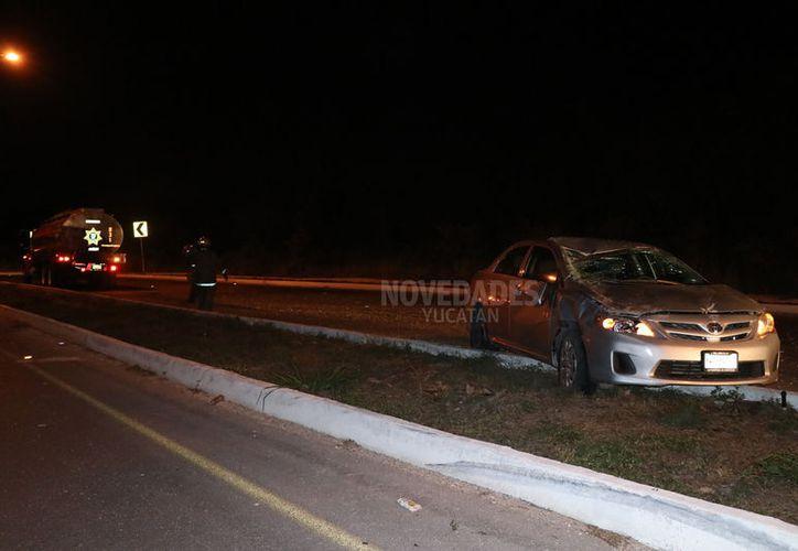 El accidente ocurrió a las 13 horas a la altura del kilómetro 36 que va de Periférico a Santa Fe.