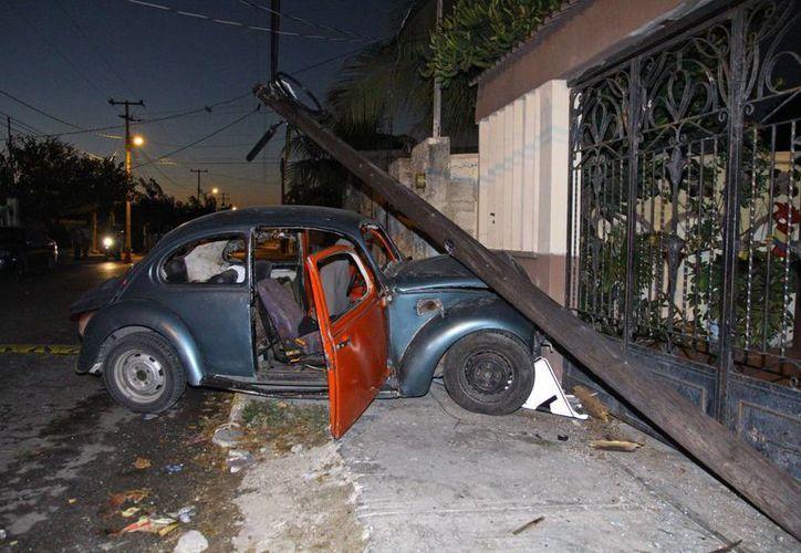 El accidente tuvo lugar en la colonia Nueva Sambulá. (Martín González/ SIPSE)