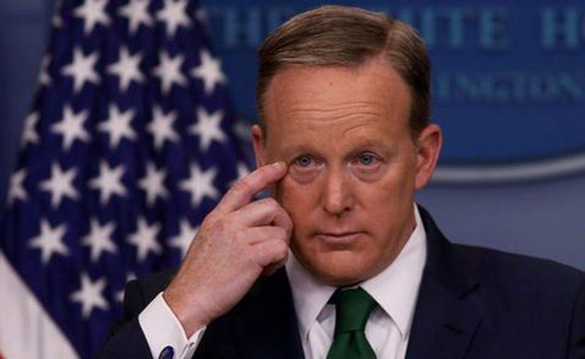 El vocero de la Casa Blanca, Sean Spicer, informó que Estados Unidos detectó preparativos de un ataque con armas químicas en Siria. (Milenio.com)