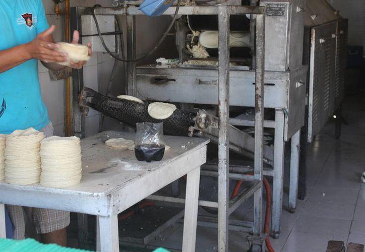 La producción de tortillas  varía de acuerdo al lugar donde se ubica la empresa. (Sara Cauich/ SIPSE)