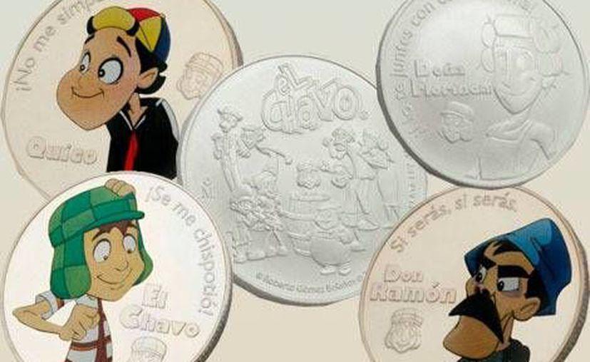 Las monedas conmemorativas de la conocida serie mexicana. (Milenio.com)