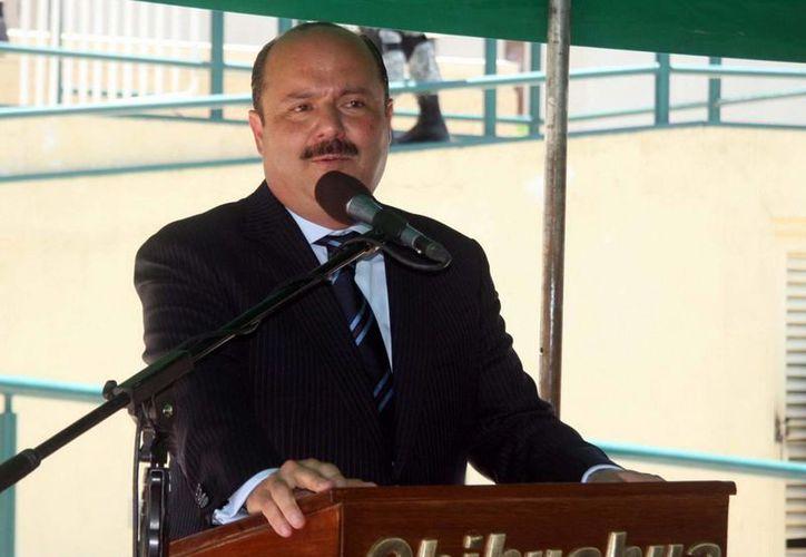 El gobernmador de Chihauhua, César Duarte, en un evento. (Archivo/Notimex)