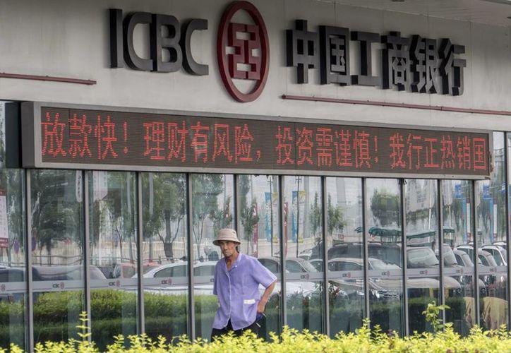 Fachada de una oficina del ICBC en Beijing, China. El banco anuncia que operará en México. (EFE/Archivo)
