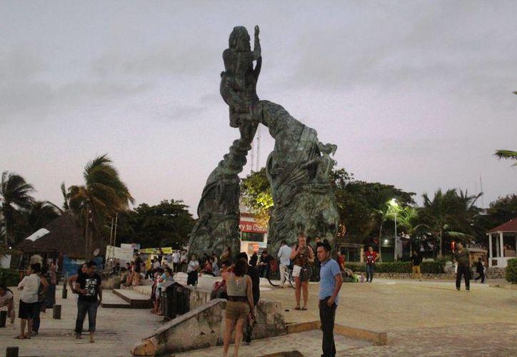 Las playas más concurridas fueron las de la colonia Centro. (Octavio Martínez/ SIPSE)