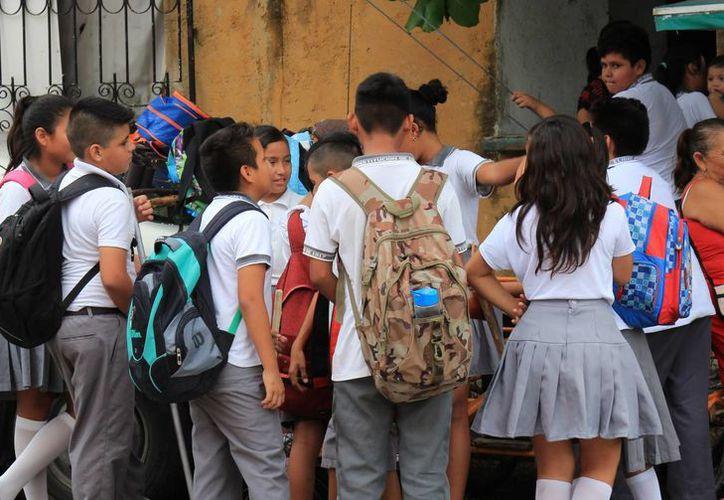 Descansarán alrededor de 147 mil alumnos de preescolar, primaria y secundaria. (Jesús Tijerina/SIPSE)