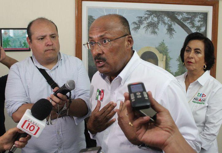 El dirigente del PRI dice que si alguien del partido se equivoca, se debe aplicar la ley. (Joel Zamora/SIPSE)
