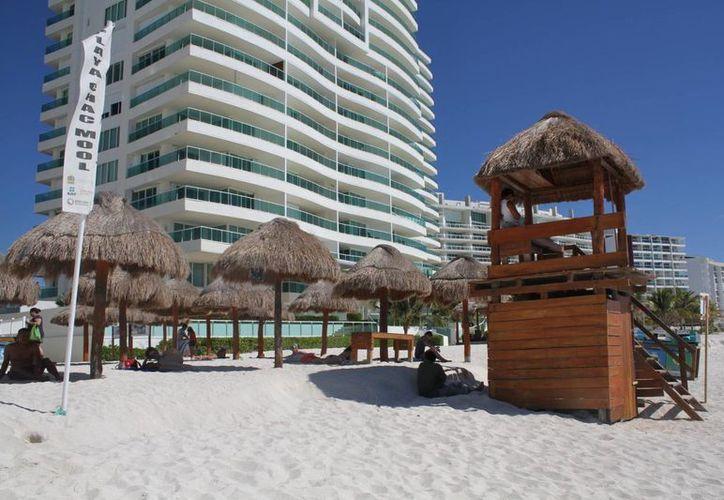 La playa Chac Mool forma parte de los arenales que serán visitadas por las autoridades en Quintana Roo. (Archivo/SIPSE)