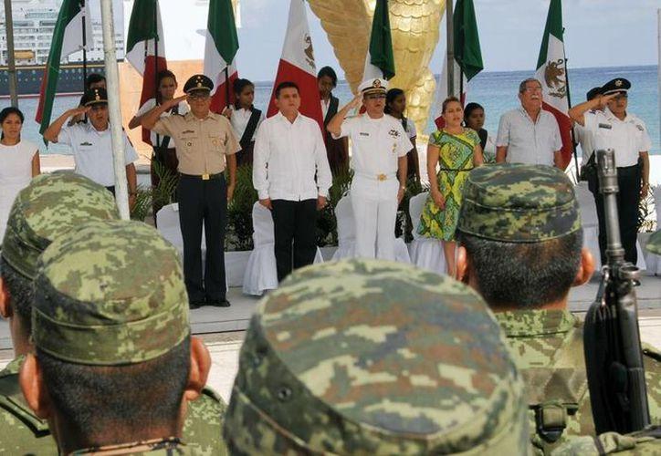 El evento se realizó en la Explanada de la Bandera en la avenida Rafael E. Melgar. (Cortesía/SIPSE)