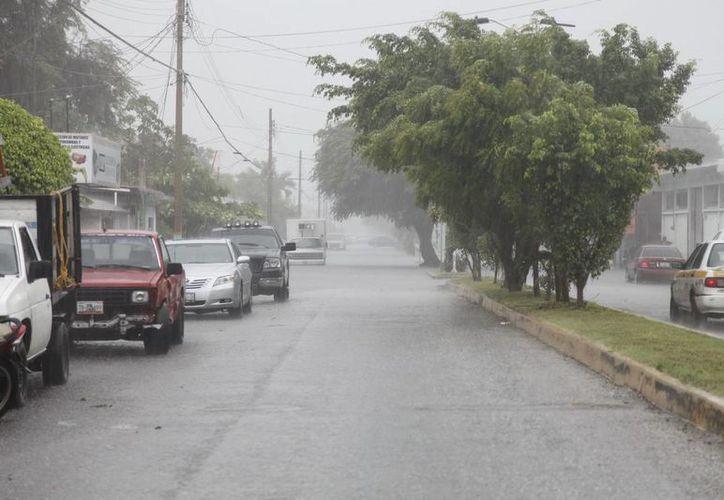 En Chetumal se registraron encharcamientos de hasta 20 centímetros de alto. (Redacción/SIPSE)