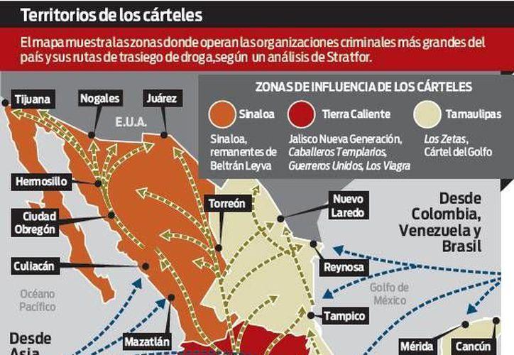 Influencia de los cárteles en México. (Gráfico: Excelsior)