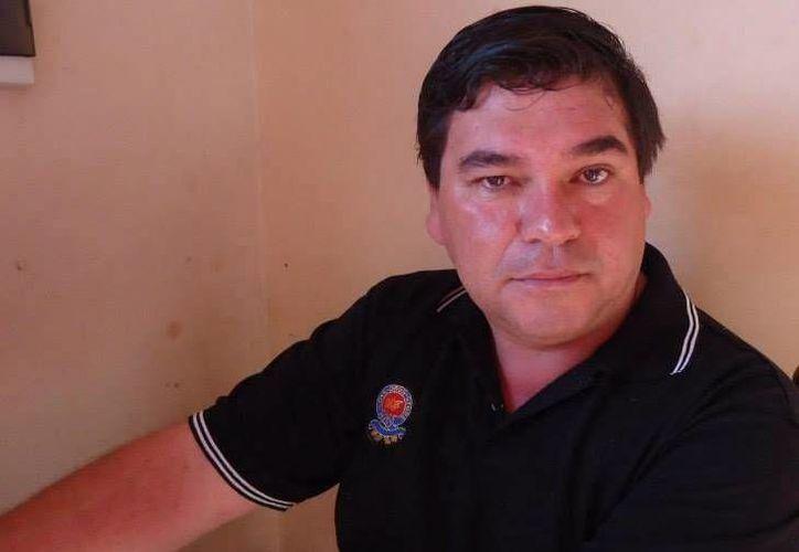 Imagen de archivo que muestra al periodista Gerardo Servián, asesinado el jueves por la tarde. (Foto tomada de: www.abc.com.py)