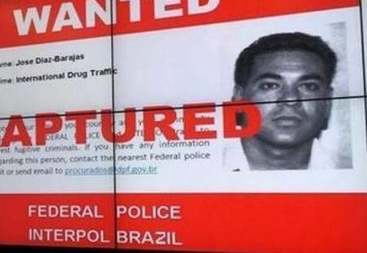 La ficha de captura de Interpol en contra del mexicano José Díaz Barajas. (smh.com.au)