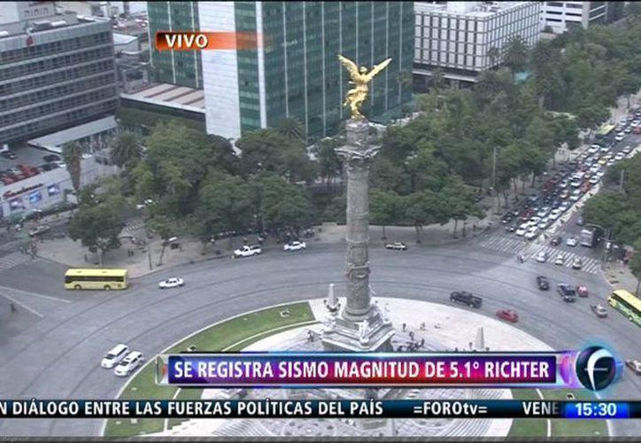 El tránsito en algunas calles de la Ciudad de México no se vio interrumpido. (Foto: Foro TV)