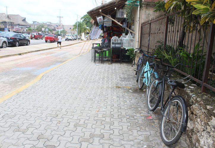 El proyecto se encuentra abandonado y ningún negocio de bicicleta ha retomado la idea. (Sara Cauich)