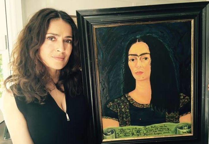 Salma Hayek cumple 50 años este viernes. (Facebook)