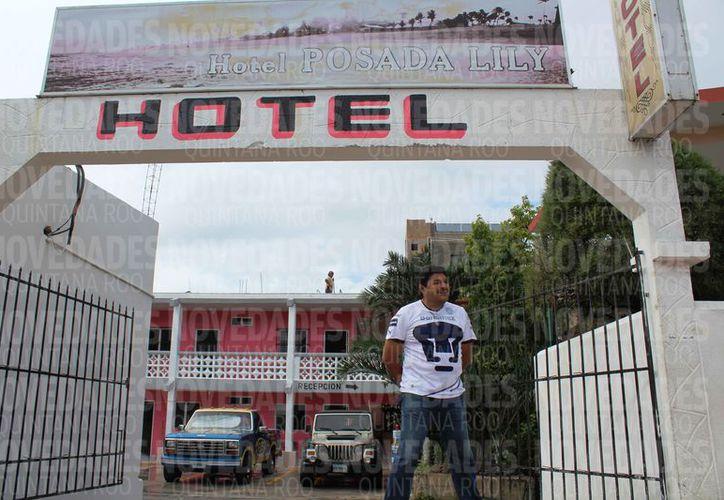"""""""Posada Lily"""" fue uno de los primeros hoteles del municipio. (Octavio Martínez/SIPSE)"""