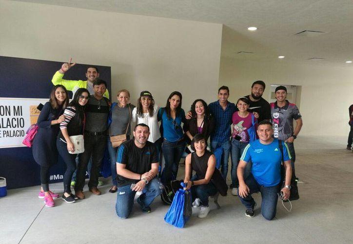 El grupo de yucatecos participarán en el maratón que se realizará este domingo en la Ciudad de México. (Marco Moreno/ Milenio Novedades)