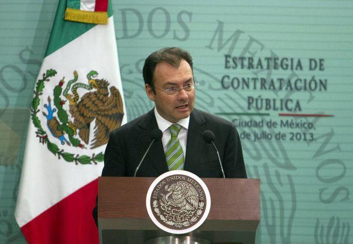 Videgaray sostuvo que el crecimiento de EU es una buena noticia para México. (Archivo/Notimex)