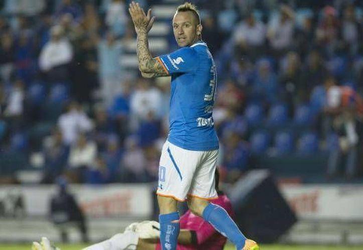 Matías Vuoso consiguió con un derechazo el gol que le dio el empate al Cruz Azul contra el Atlas, en el cierre de la jornada 11 de la Liga MX. (Archivo Mexsport)