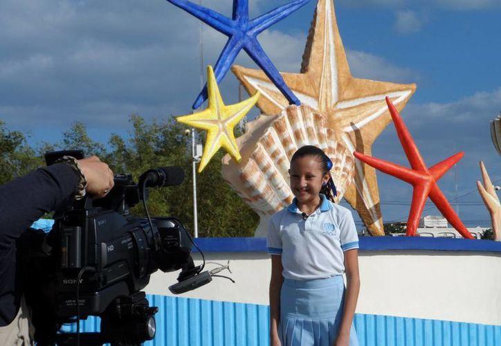 """Con """"Yo soy Cancún"""", alumnos de la escuela primaria Naciones Unidas participan en la competencia """"Proyectos Educativos con Éxito"""". (Tomás Álvarez/SIPSE)"""